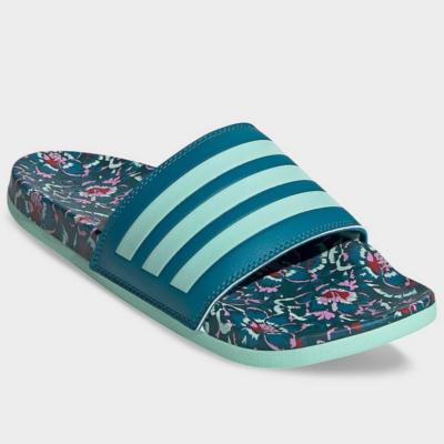 Adidas-női-zöld-mintás-komfort-strandpapucs-FZ4877