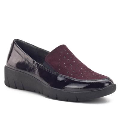 Jana-női-fekete-bordó-alkalmi-utcai-cipő-8-24703-23-549