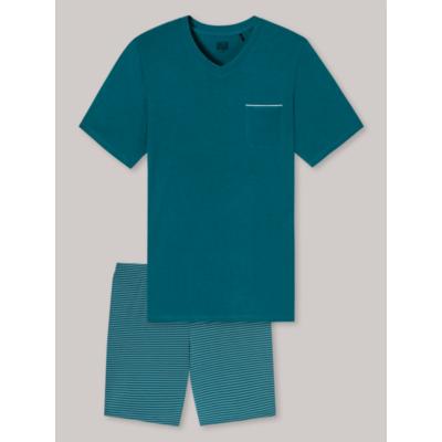 Schiesser pamut modal pizsama 174529-vékony rövid