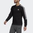 Adidas férfi fekete kereknyakú pamut pulóver-GK9579