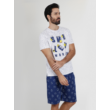 Smiley word férfi pizsama - rövid fazonú nyári